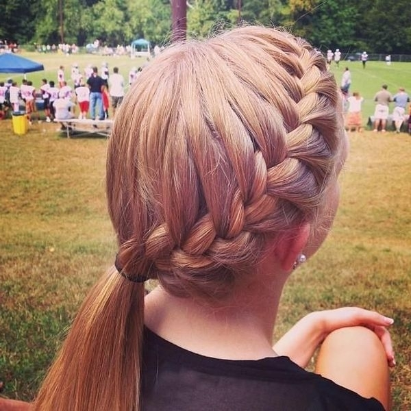 French Braid Hairstyles, Pictures Of Elegant French Braid With Most Up To Date Simple French Braids For Long Hair (View 6 of 15)