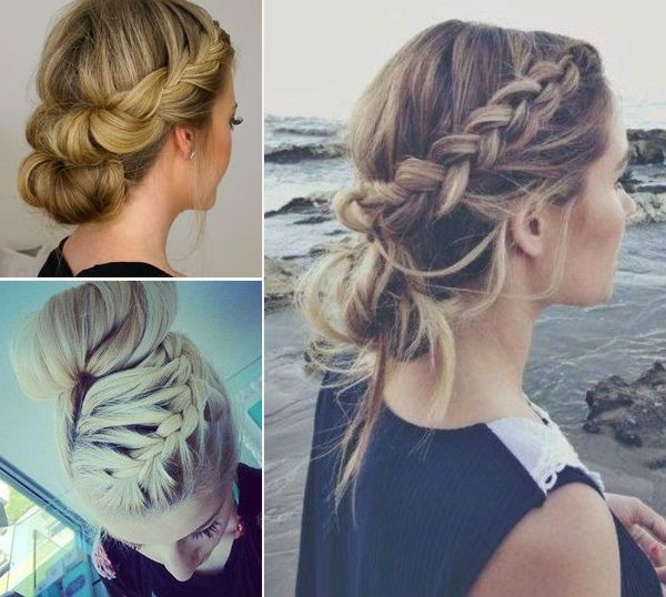 French Braid Hairstyles, Pictures Of Elegant French Braid With Regard To Best And Newest Simple French Braids For Long Hair (View 2 of 15)