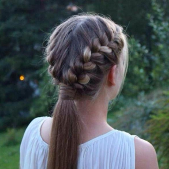 French Braid Into Pigtails Two French Braids Into A Ponytail Simple Regarding Most Up To Date French Braids Into Pigtails (View 4 of 15)