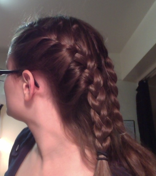 French Braid Into Ponytail | Obsessed With Pinterest With Newest Two Braids Into One Braided Ponytail (View 13 of 15)