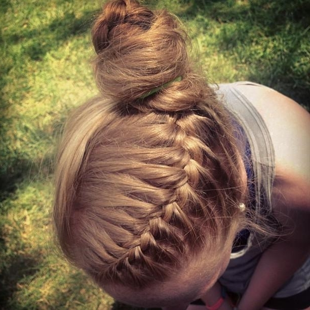 French Braid, Messy Bun | Hairstyles How To Inside Newest French Braids Into Braided Buns (View 11 of 15)