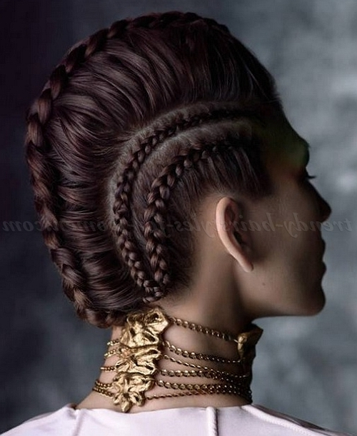 French Braided Mohawk Hairstyles Images Easy Of Mohawk Hairstyles With Regard To Recent Mohawk French Braid Hairstyles (View 9 of 15)