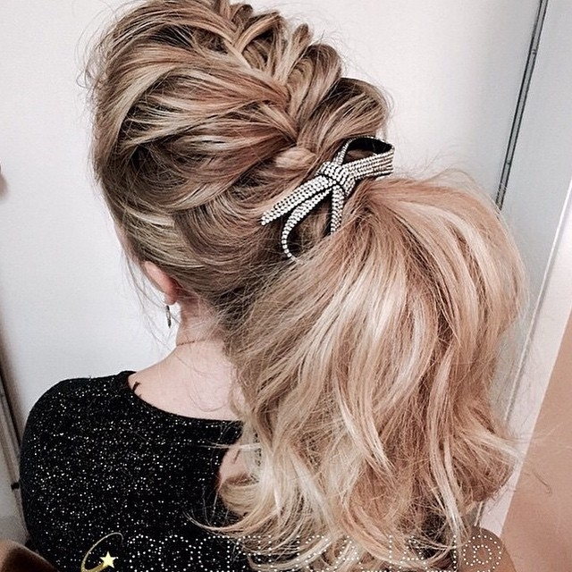 French Braids Into A Ponytail   Hair Color Ideas And Styles For 2018 Regarding Best And Newest French Braids Into Pigtails (View 14 of 15)