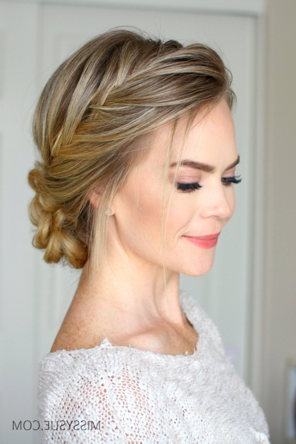 French Fishtail Braid Updo   Missy Sue Regarding French Braid Updo Intended For Most Popular French Braid Updo Hairstyles (View 13 of 15)
