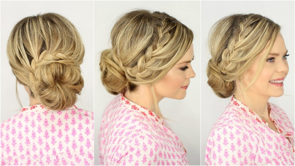 French Lace Braid Updo | Prom Hairstyle | Missy Sue – Youtube | Best For Most Popular Missy Sue Braid Hairstyles (View 9 of 15)