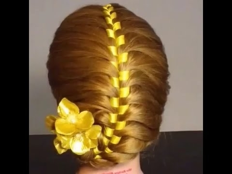 French Ribbon Braided Hair Tutorial – Youtube With Regard To Current Braided Ribbon Hairstyles (View 10 of 15)