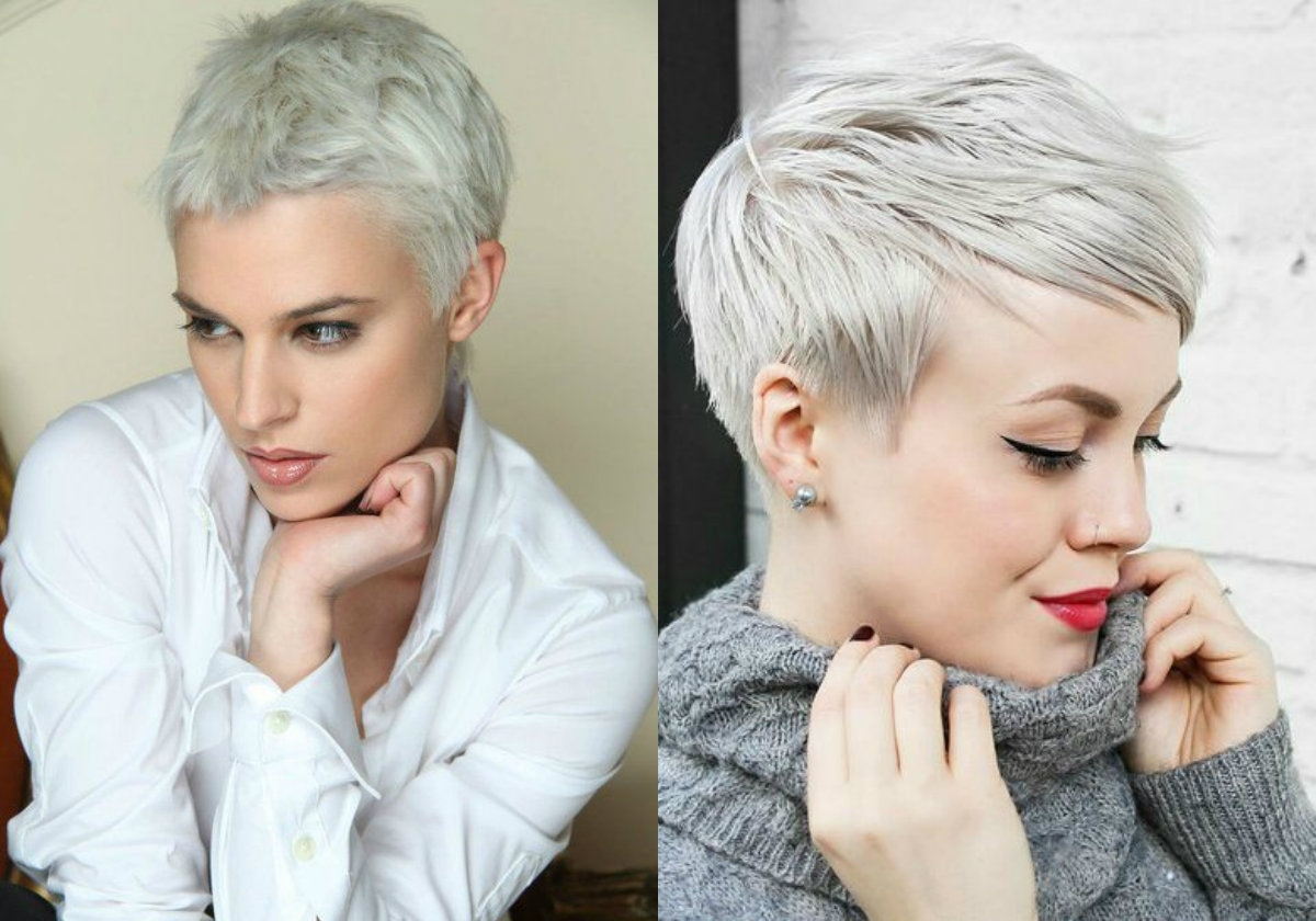 Fresh Cool Ideas On Blonde Pixie Haircuts | Hairdrome In Most Popular Gray Blonde Pixie Haircuts (View 10 of 15)
