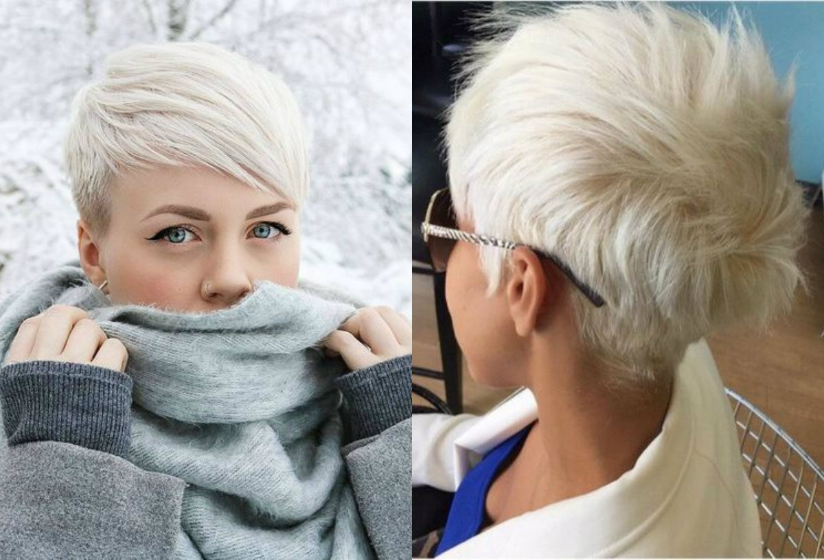 Fresh Cool Ideas On Blonde Pixie Haircuts | Hairdrome Inside Recent Bleach Blonde Pixie Haircuts (View 6 of 15)