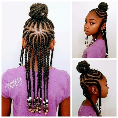 Fulani Inspired Braids With Beads | Kid Hairstyles | Pinterest | Kid Within Current Classic Fulani Braids With Massive Ivory Beads (View 10 of 15)