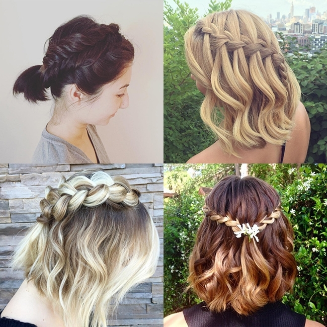 Gallery: The Prettiest Braids For Short Hair On Instagram That You Intended For Recent Braided Hairstyles On Short Hair (View 12 of 15)