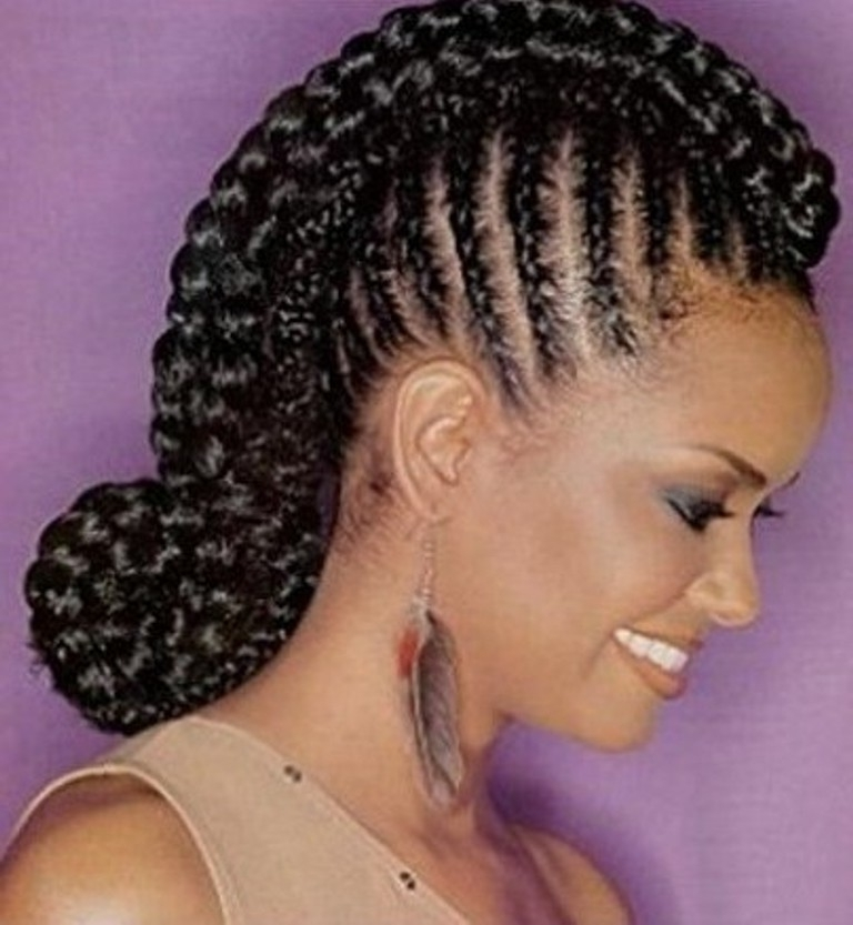Geometric Cornrow Hairstyle For Black Women | Hairstyle Ideas Within Current Braided Lines Hairstyles (Gallery 15 of 15)