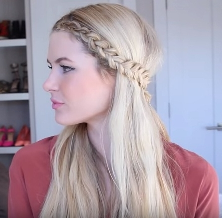 Get An Easy Front Row Braided Hairstyle In 4 Steps | Beauty Inside Current Braided Hairstyles In The Front (Gallery 6 of 15)