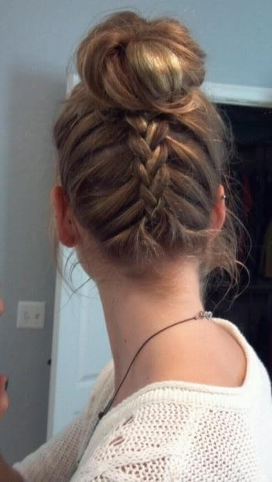 Get That Look: The Upside Down Braid Bun | Hair Extensions News In Most Recent Upside Down Braids To Bun (View 12 of 15)