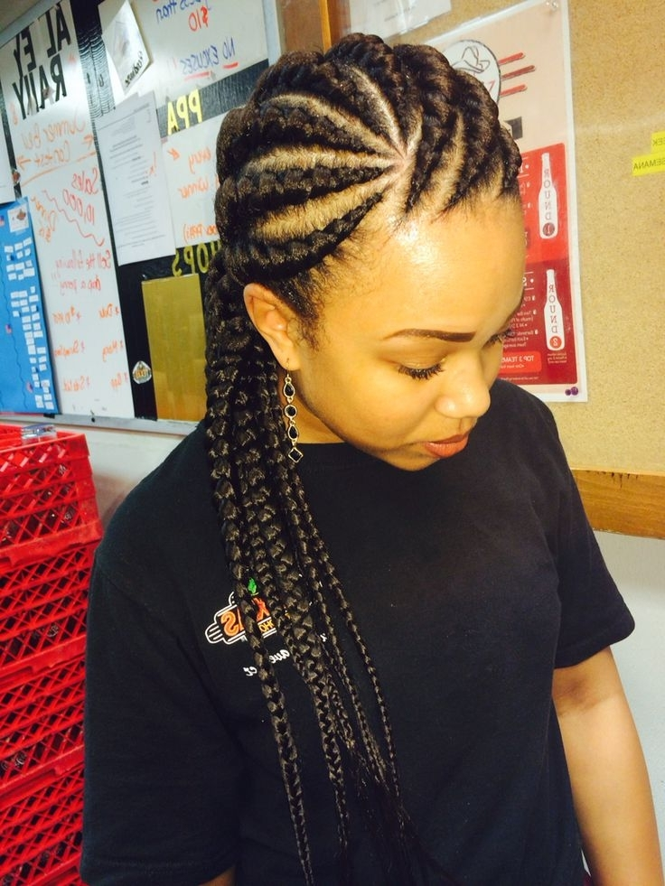 Ghana Braids (10) - Glamorous Hairstyles inside Newest Thick Cornrows Hairstyles