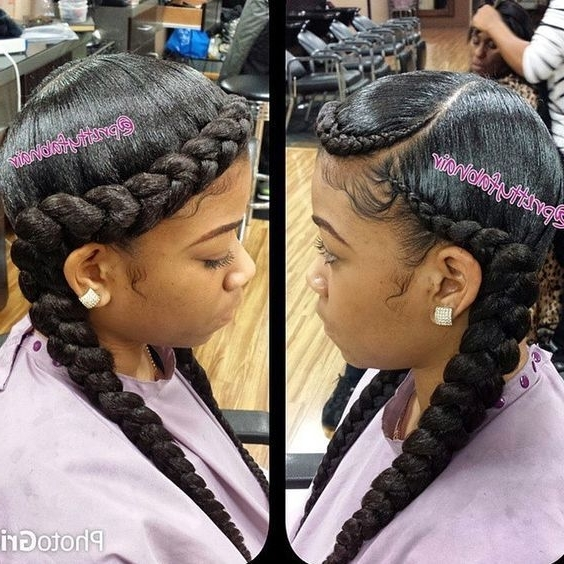 Ghana Braids, Ghana Braids With Updo, Straight Up Braids, Braids With Best And Newest Quick Braided Hairstyles For Black Hair (Gallery 13 of 15)