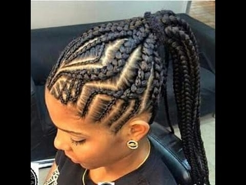 Ghana Braids Hairstyles 2017 : Awesome Ghana Braids For Women – Youtube Intended For 2018 Ghana Braids Hairstyles (View 2 of 15)