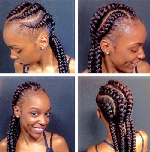 Ghana Braids Hairstyles – Gorgeous Ghana Braided Hairstyles To Charm Regarding Most Current Ghanaian Braided Hairstyles (View 6 of 15)