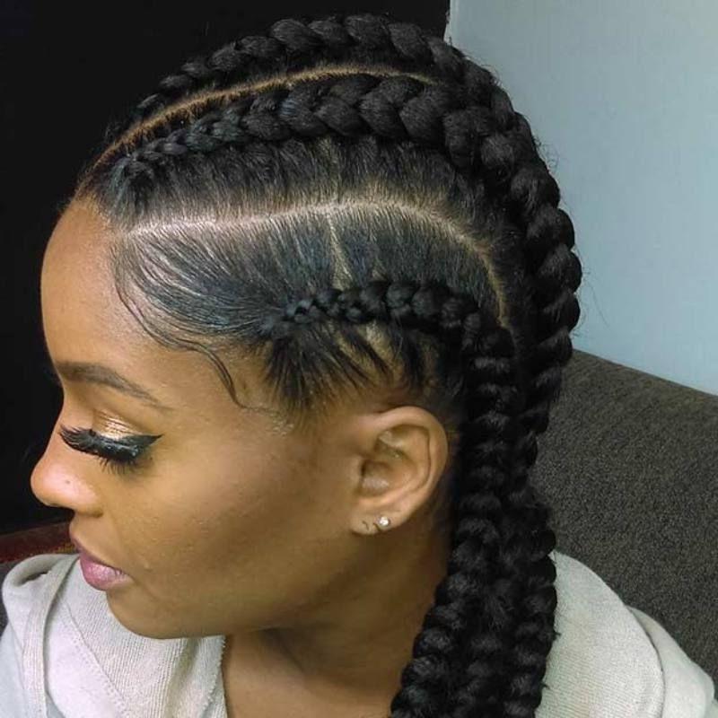 Ghana Braids – Updos, Cornrows, Jumbo & Ponytail | Pinterest | Ghana Regarding Most Recently Simple Cornrows Hairstyles (Gallery 14 of 15)