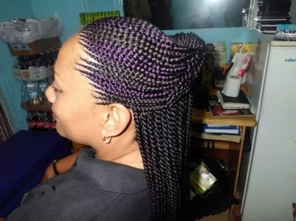 Ghana Cornrow Pertaining To Hairdo | Beauty Solution Within With Regard To Newest Invisible Cornrows Hairstyles (Gallery 3 of 15)
