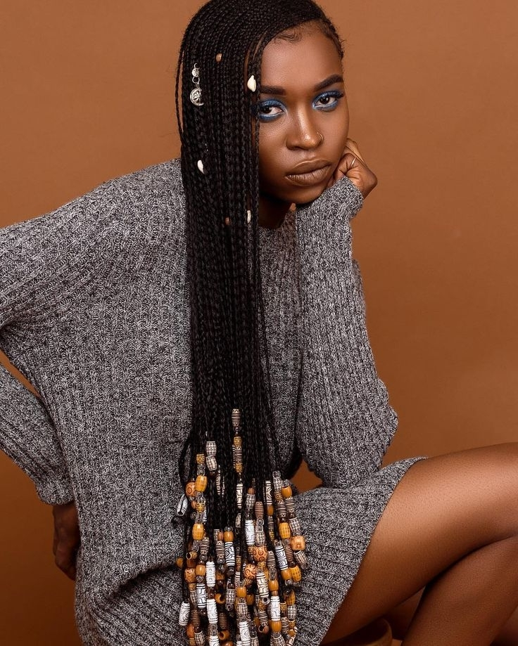 Ghana Weaves With Beads. See Images Of Super Stylish Braids With With Current Braided Hairstyles With Beads (Gallery 9 of 15)