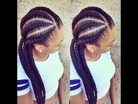 Ghana Weaving Styles For Oblong Faces – Youtube Regarding Most Recently Cornrows Hairstyles For Oval Faces (View 6 of 15)