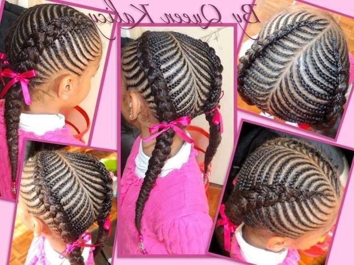 Girl Braided Hairstyles Is One Of The Best Idea For You To Remodel Intended For Most Current Cornrows Hairstyles For Little Girl (Gallery 13 of 15)