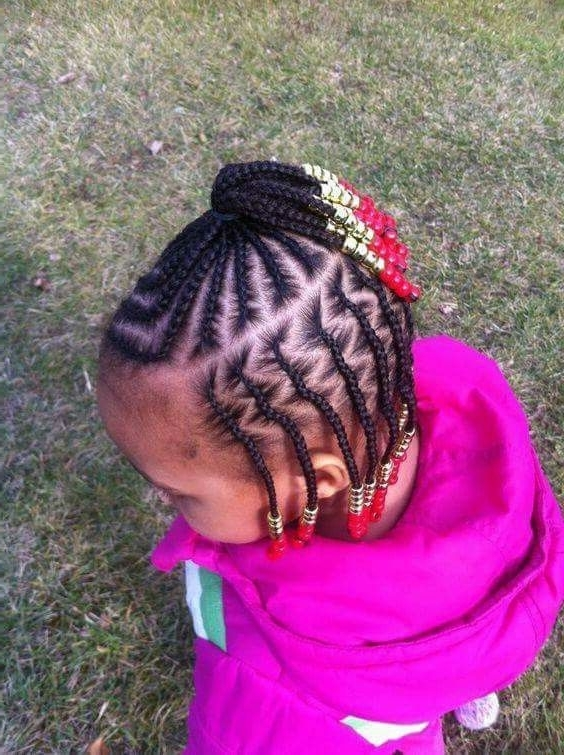 Girl Hairstyles Cornrows Twists | Hairstyles For Little Girls In Most Current Cornrows Hairstyles For Toddlers (Gallery 6 of 15)