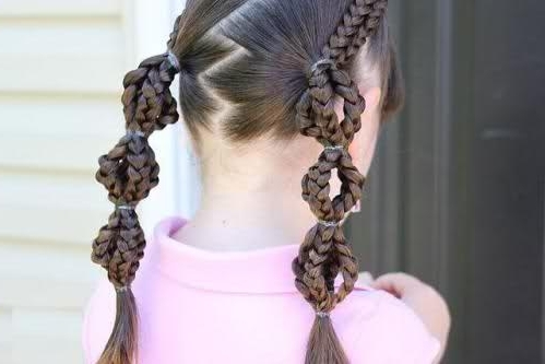 Girls Braids Hairstyles throughout Most Up-to-Date Braided Hairstyles For White Hair