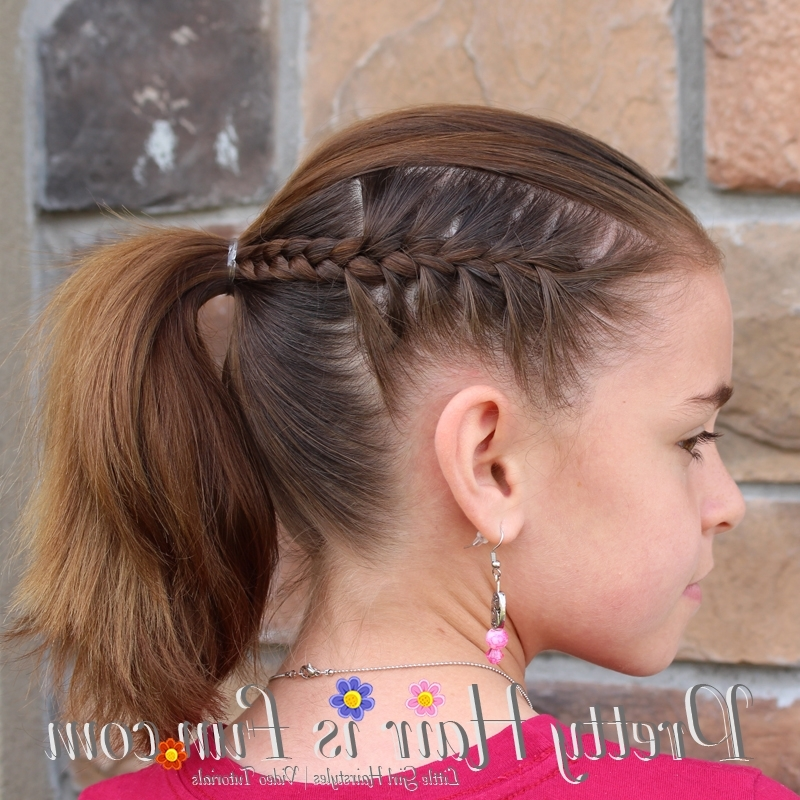 Girl's Hairstyles: Racer Stripe Braids – Pretty Hair Is Fun – Girls Intended For Newest Braided Hairstyles For Dance (Gallery 11 of 15)