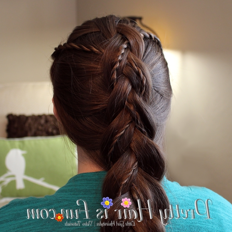 Girl's Hairstyles: Weaved Twist Dutch Braid – Pretty Hair Is Fun With Most Recent Easter Braid Hairstyles (Gallery 1 of 15)