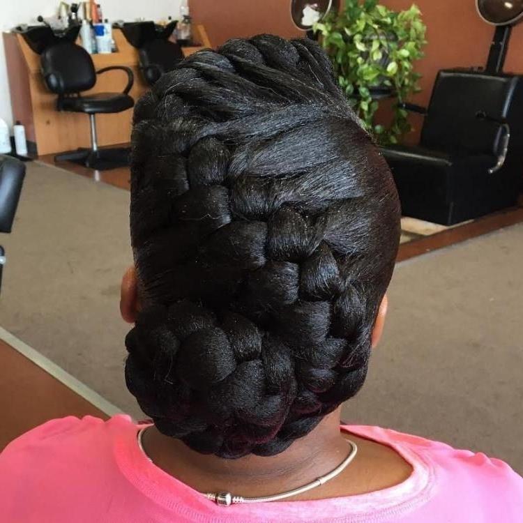 Goddess Braid Updo | Hair: Braids, Twist, Locs & More | Pinterest With Regard To 2018 Braided Goddess Updo Hairstyles (Gallery 2 of 15)
