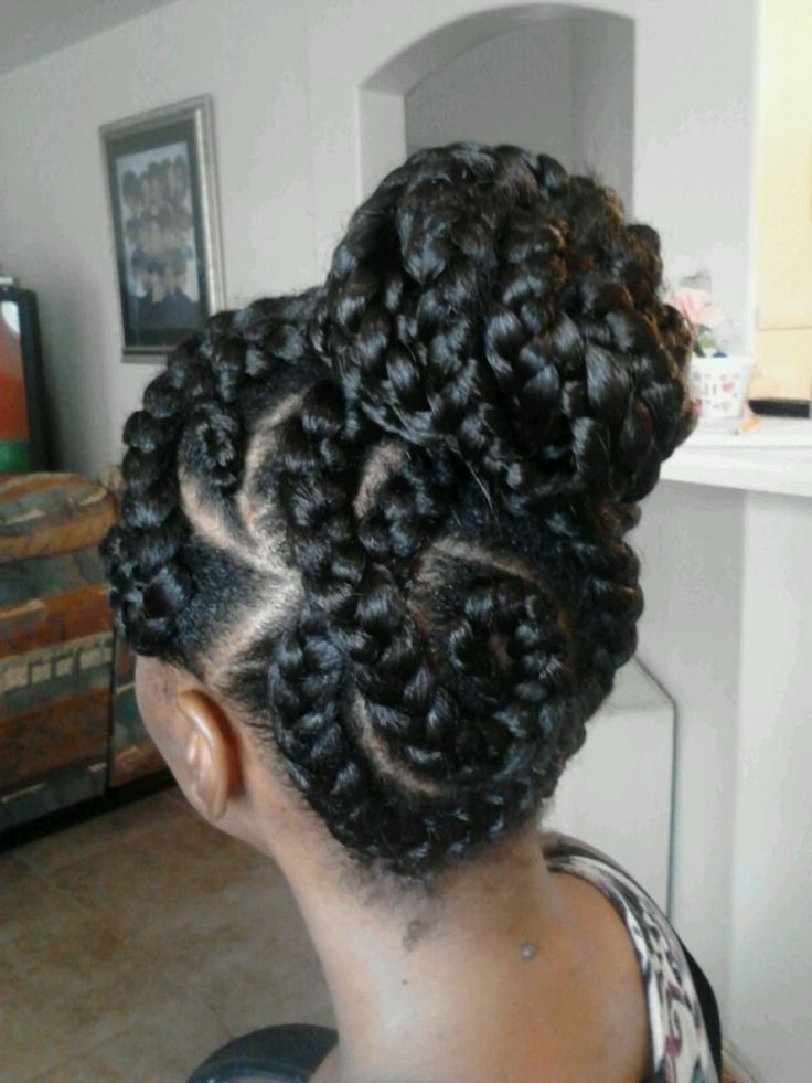 Goddess-Braids-12 | The Naptural Struggle | Pinterest | Goddess with 2018 Regal Braided Up-Do Hairstyles