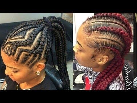 Goddess Braids Hairstyles For Black Women – Youtube In Most Recent Goddess Braid Hairstyles (Gallery 4 of 15)