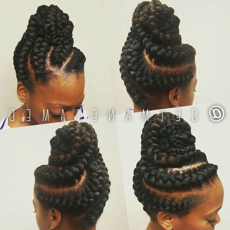 Goddess Braids Updo. Ig:@getmanetamed | Hair, Hair & Hair In Most Recently Braided Goddess Updo Hairstyles (Gallery 5 of 15)