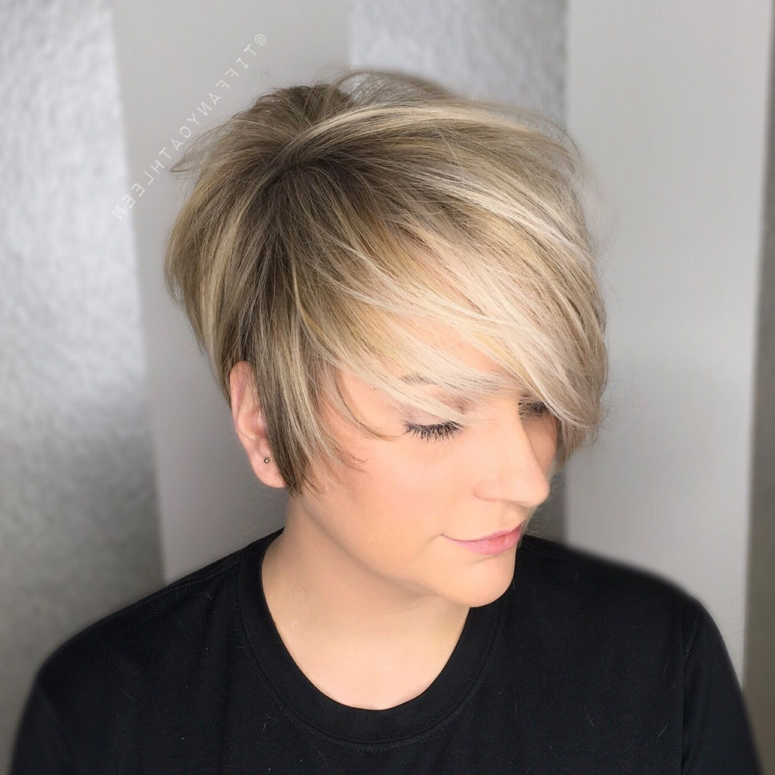 Gorgeous Blonde Balayage On A Textured Pixie Cut | My Hairstyles Regarding Current Disconnected Blonde Balayage Pixie Haircuts (Gallery 15 of 15)