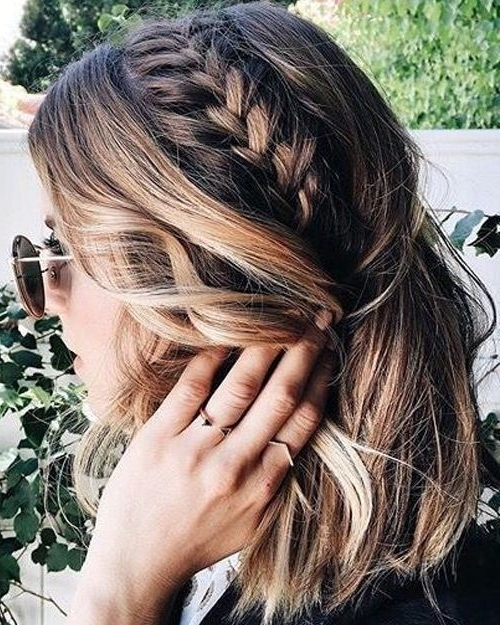 Gorgeous Mix Of Braided Layered Medium Hairstyles 2018 For Women For Most Up To Date Braided Layered Hairstyles (Gallery 9 of 15)