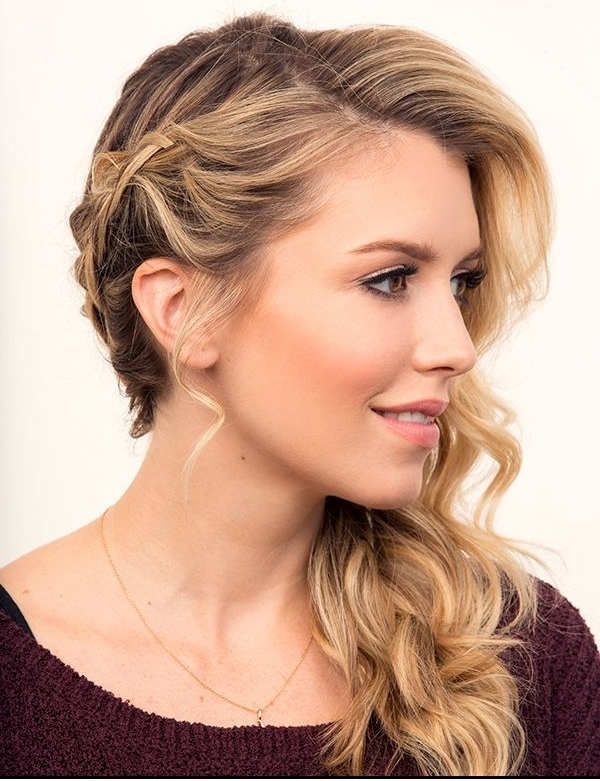 Gorgeous Side Swept Braided Hairstyles 2015 | Styles Time Pertaining To Best And Newest Braided Hairstyles To The Side (Gallery 6 of 15)