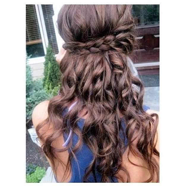 Graduation Hairstyles Photo - 25 | Polyvore Items I Need | Pinterest intended for Most Up-to-Date Braided Graduation Hairstyles