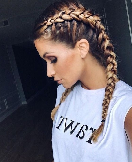Grown Up Braids, Two Plaits Bronde Balayage Two Tone Hair | Hair And With Best And Newest Braided Hairstyles With Two Braids (Gallery 3 of 15)