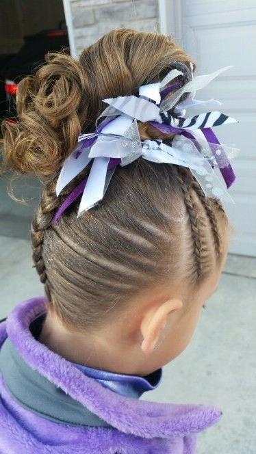Gymnastics Hair. Braids. | Gymnastics Braids And Hair | Pinterest inside Current Braided Gymnastics Hairstyles
