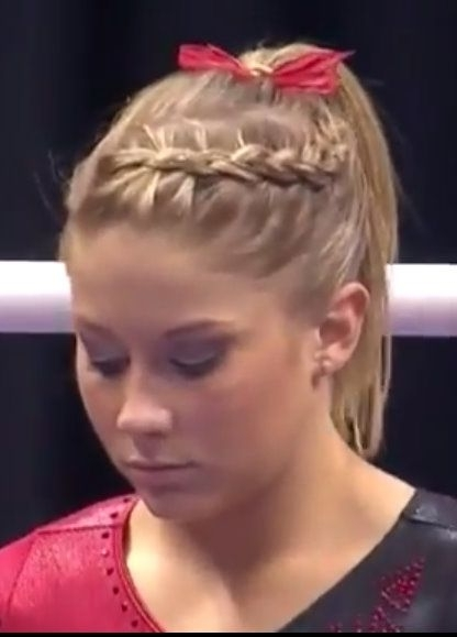 Gymnastics Hair | ~ Hair ~ Violet's Hair ~ | Pinterest | Dutch pertaining to Current Braided Gymnastics Hairstyles