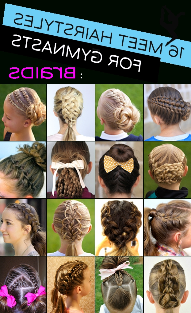 Gymnastics Hairstyles For Competition: Braids Edition | Braids/hair with regard to Current Braided Gymnastics Hairstyles