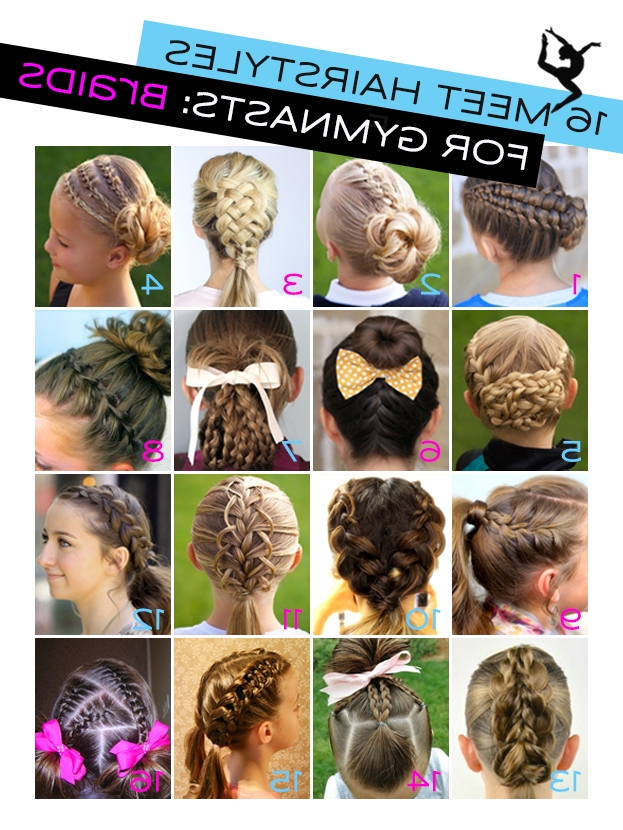 Gymnastics Hairstyles For Competition: Braids Edition | Gymnastics throughout Most Recent Braided Gymnastics Hairstyles