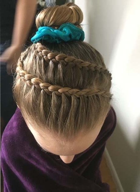 Gymnastics Hairstyles Gymnastics Competition Hair Braid 2018 Latest Inside Most Recently Braided Gymnastics Hairstyles (Gallery 10 of 15)