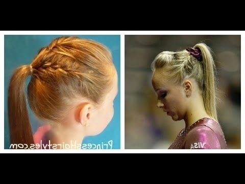 Gymnastics Hairstyles – Nastia Liukin Inspired French Braid Ponytail Throughout Recent Braided Gymnastics Hairstyles (View 3 of 15)