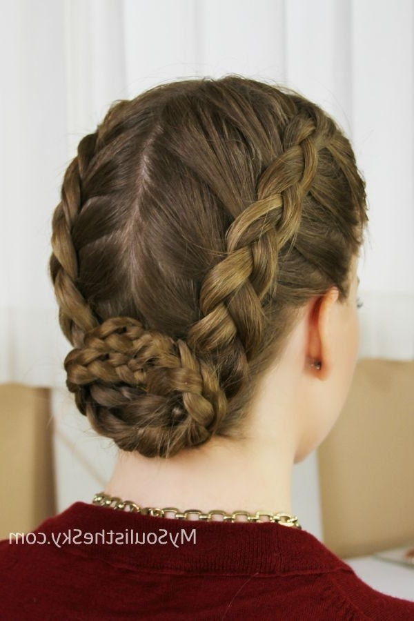 Hair And Makeup Tips And Tricks – Expressions The Dance Gallery In 2018 French Braids Into Braided Buns (View 14 of 15)