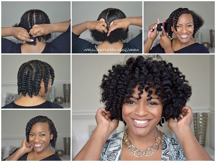 Hair Care Ideas : Easy Chunky Flat Twist Out Tutorial For Natural In 2018 Flat Twists Into Twist Out Curls (View 12 of 15)