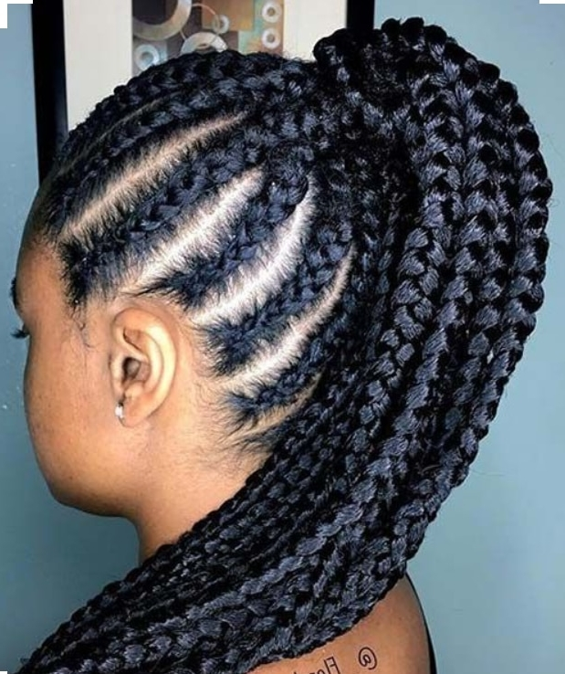Hair Cute Jumbo Cornrow Styles To Try Out | Kenya Latest News With Current Jumbo Cornrows Hairstyles (View 8 of 15)