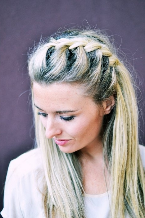 Hair Diy: Half Up Side French Braid – The Shine Project Intended For Most Current Loose Side French Braid Hairstyles (View 14 of 15)