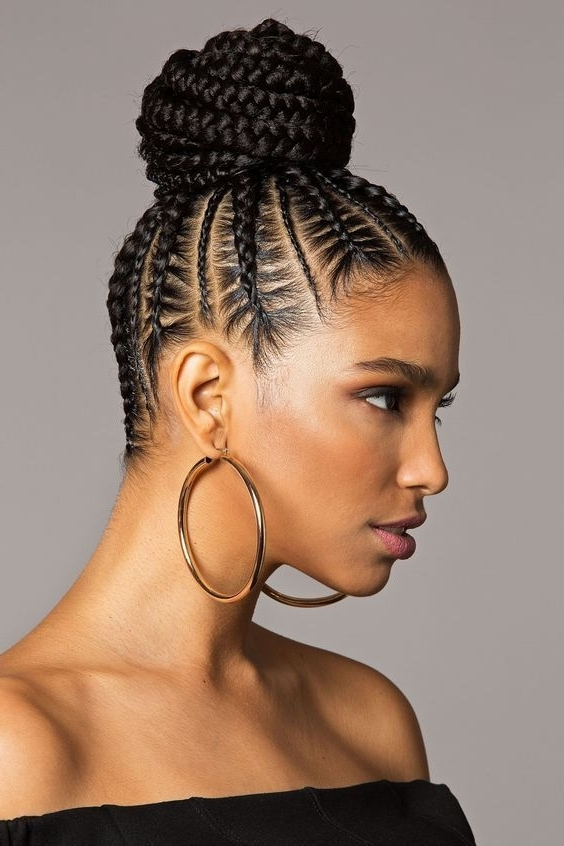 Featured Photo of Cornrows Hairstyles For Black Hair